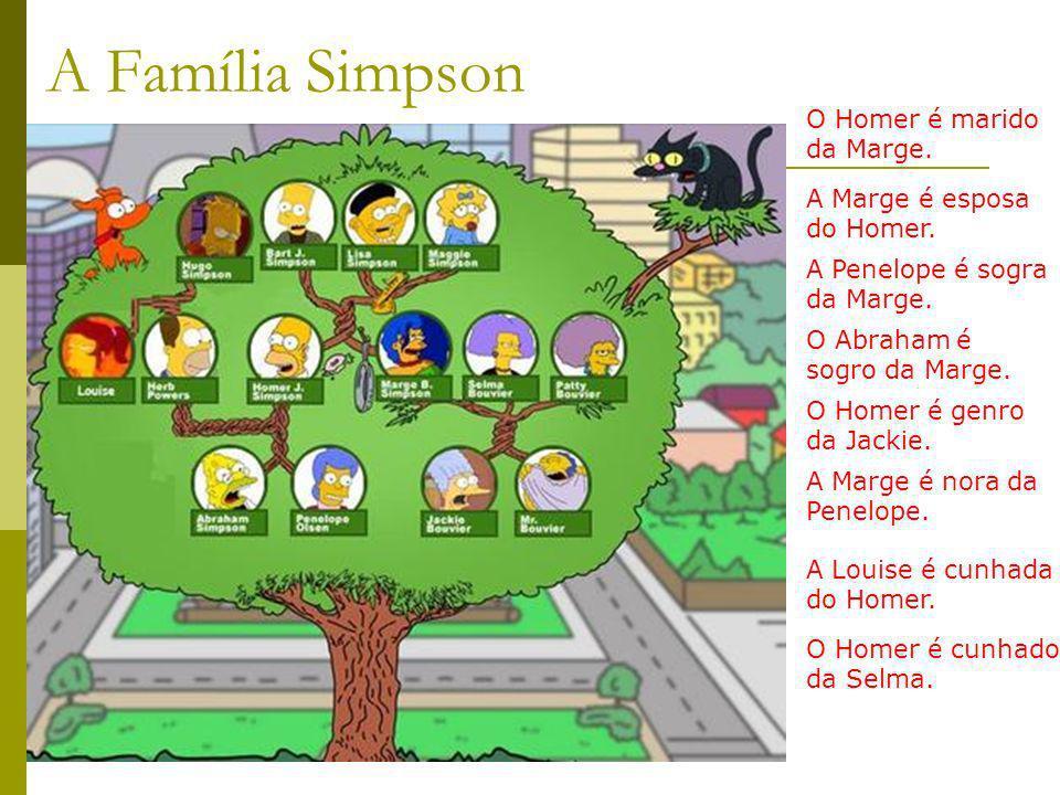 A Família Simpson O Homer é marido da Marge.