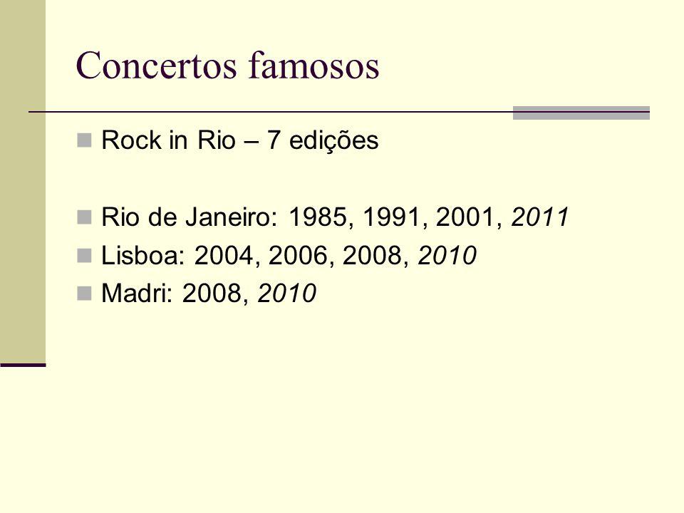 Concertos famosos Rock in Rio – 7 edições