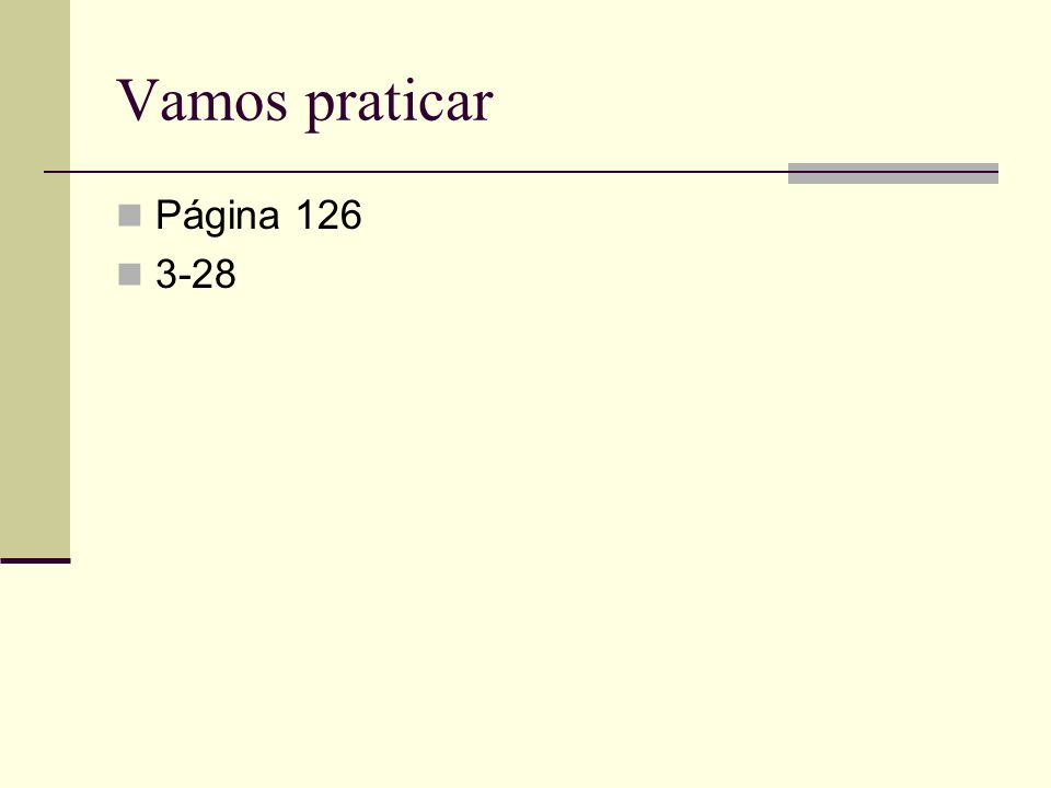 Vamos praticar Página 126 3-28