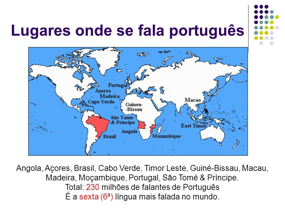 Lugares onde se fala português