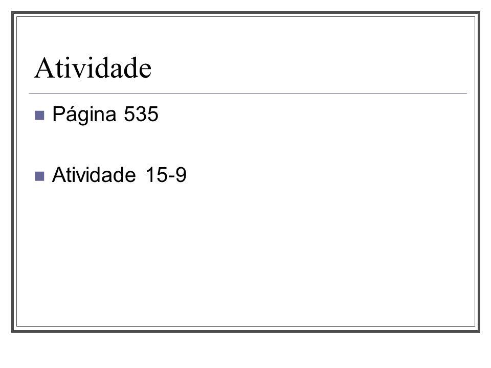 Atividade Página 535 Atividade 15-9