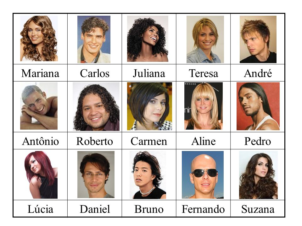 Mariana Carlos. Juliana. Teresa. André. Antônio. Roberto. Carmen. Aline. Pedro. Lúcia. Daniel.