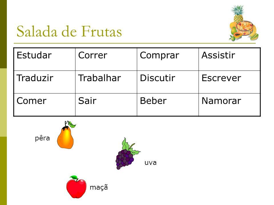 Salada de Frutas Estudar Correr Comprar Assistir Traduzir Trabalhar