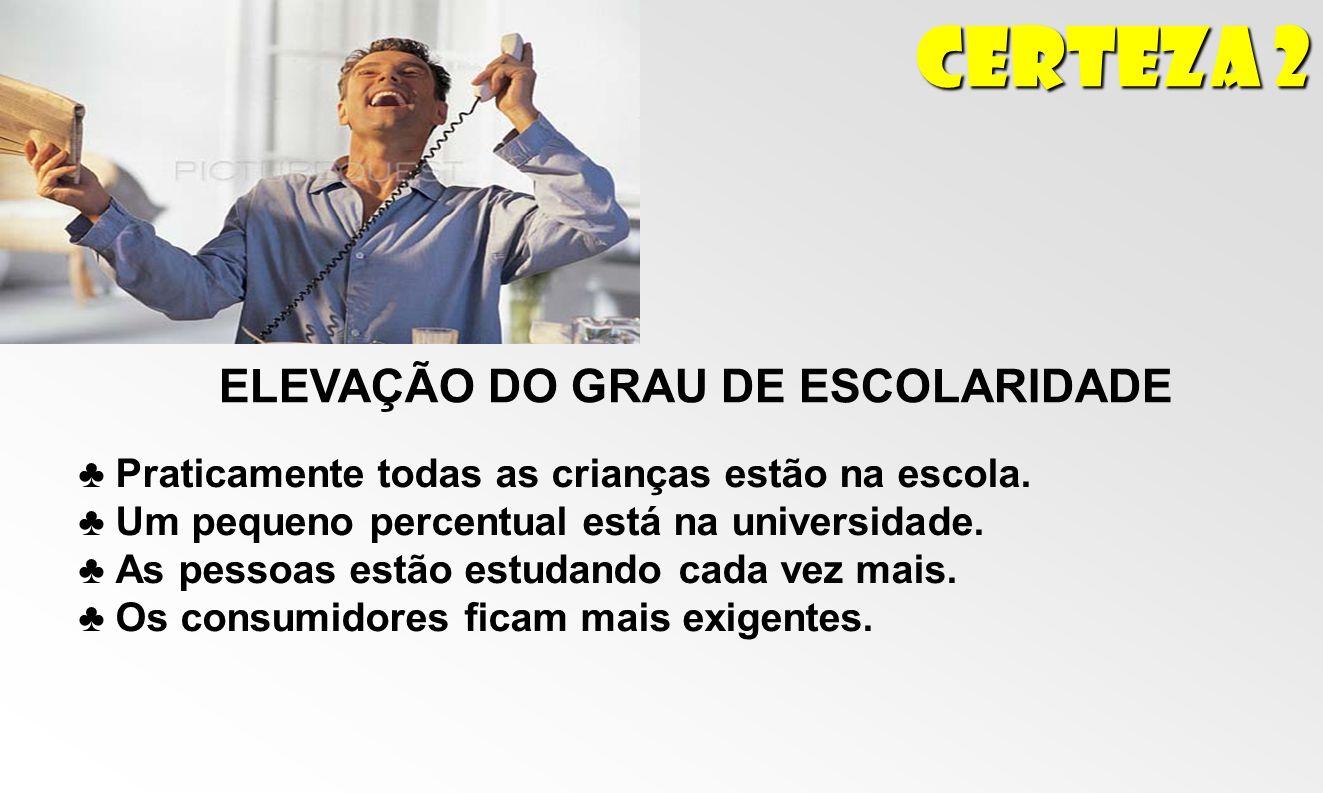 ELEVAÇÃO DO GRAU DE ESCOLARIDADE