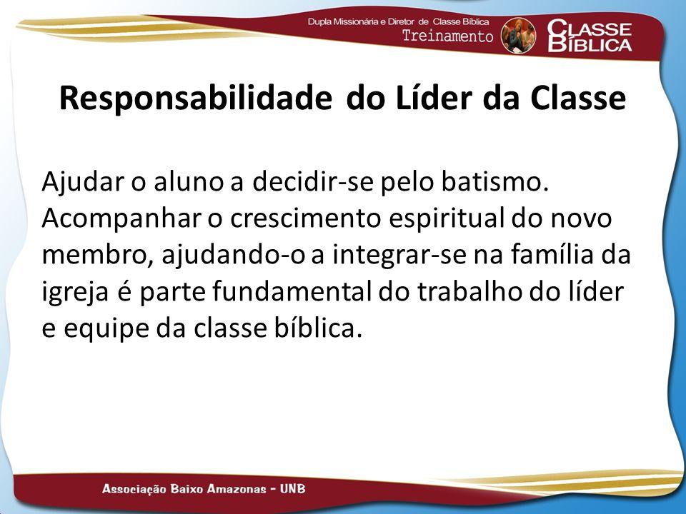 Responsabilidade do Líder da Classe