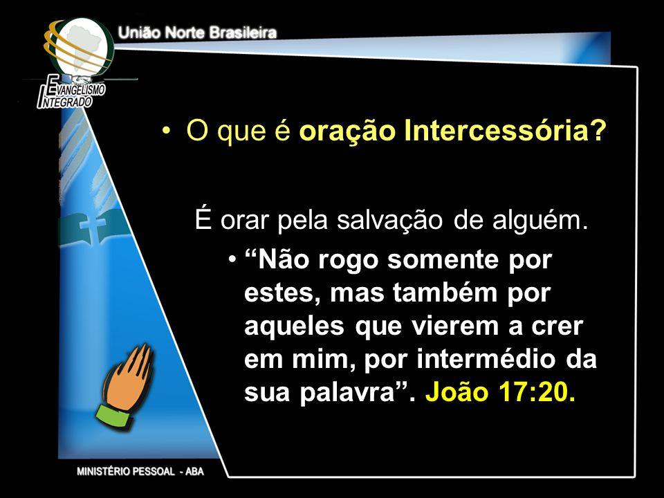 O que é oração Intercessória