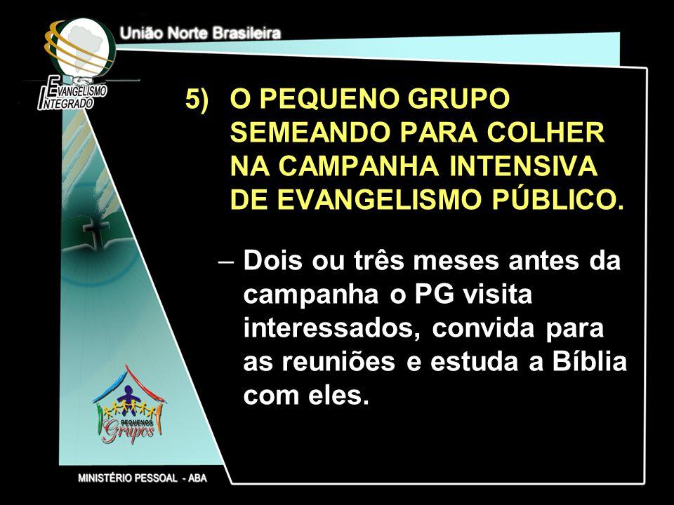 O PEQUENO GRUPO SEMEANDO PARA COLHER NA CAMPANHA INTENSIVA DE EVANGELISMO PÚBLICO.