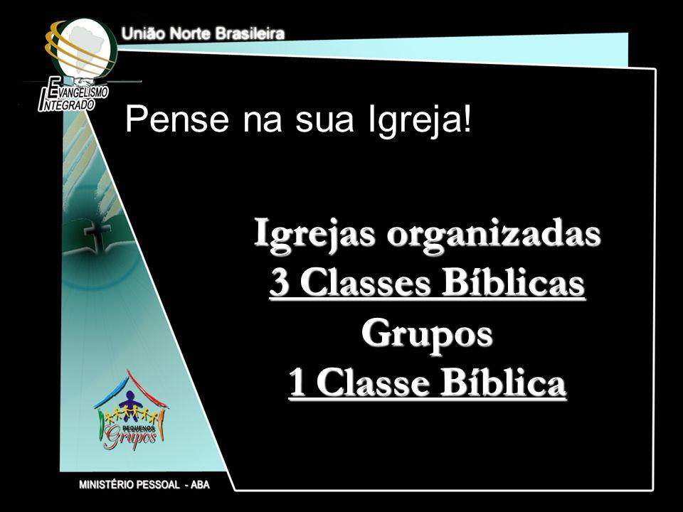 Igrejas organizadas 3 Classes Bíblicas Grupos 1 Classe Bíblica