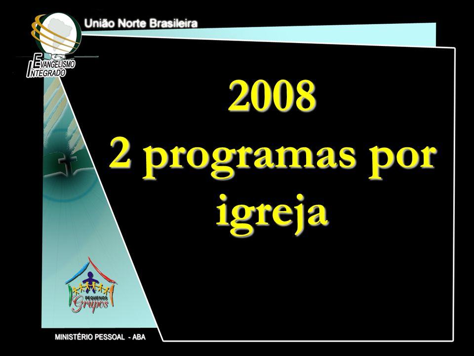 2008 2 programas por igreja