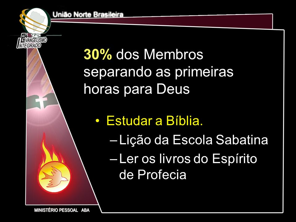 30% dos Membros separando as primeiras horas para Deus