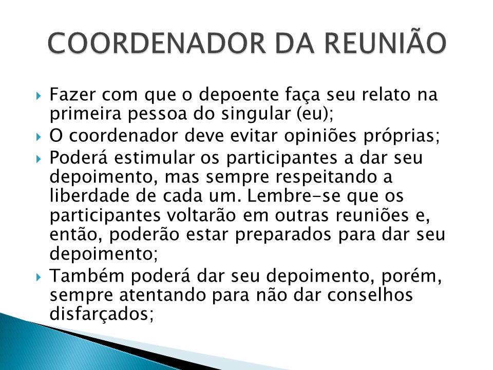 COORDENADOR DA REUNIÃO