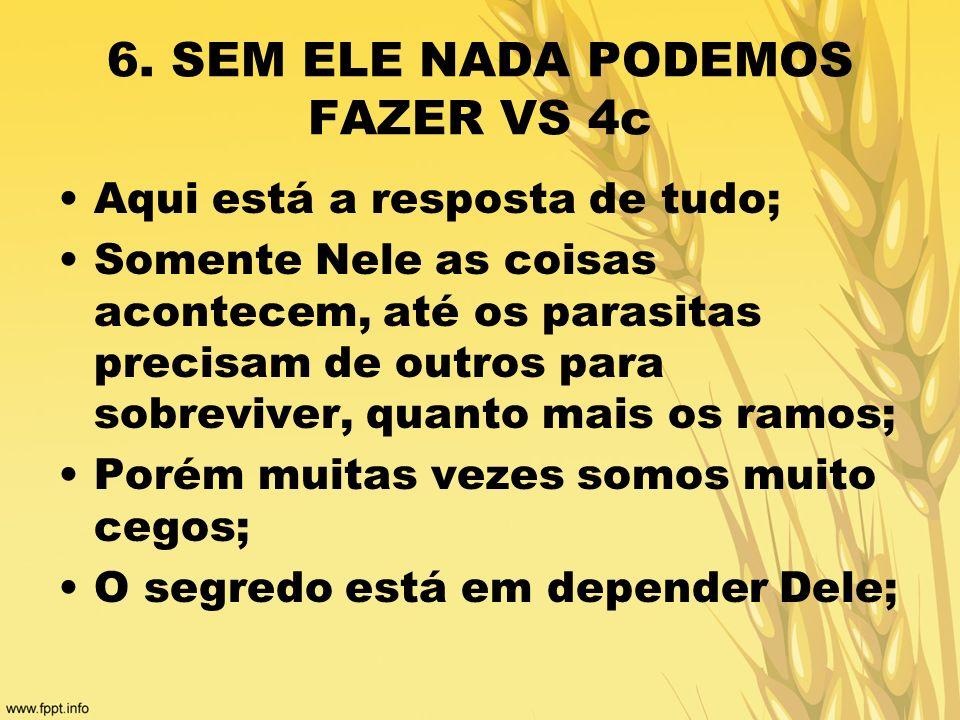 6. SEM ELE NADA PODEMOS FAZER VS 4c
