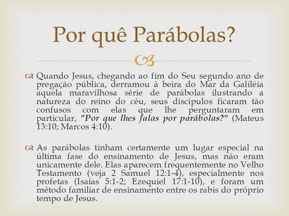 Por quê Parábolas