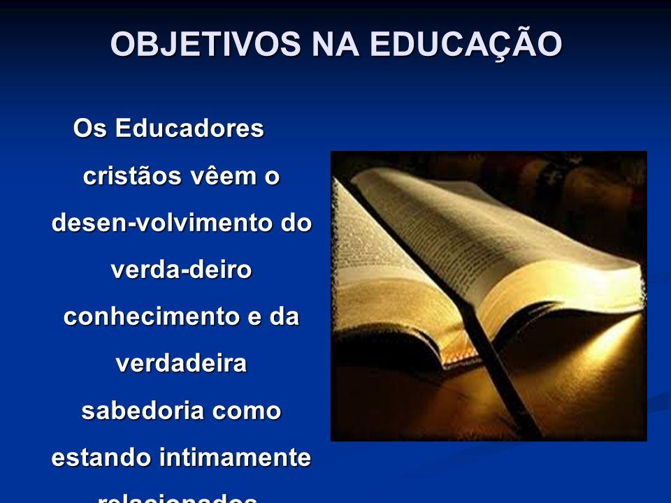 OBJETIVOS NA EDUCAÇÃO