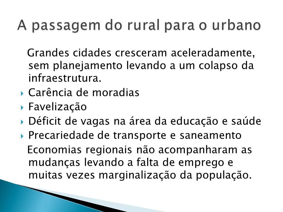 A passagem do rural para o urbano