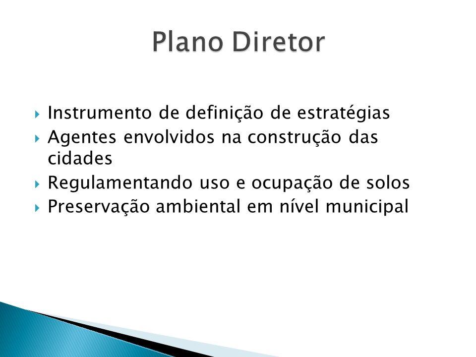 Plano Diretor Instrumento de definição de estratégias