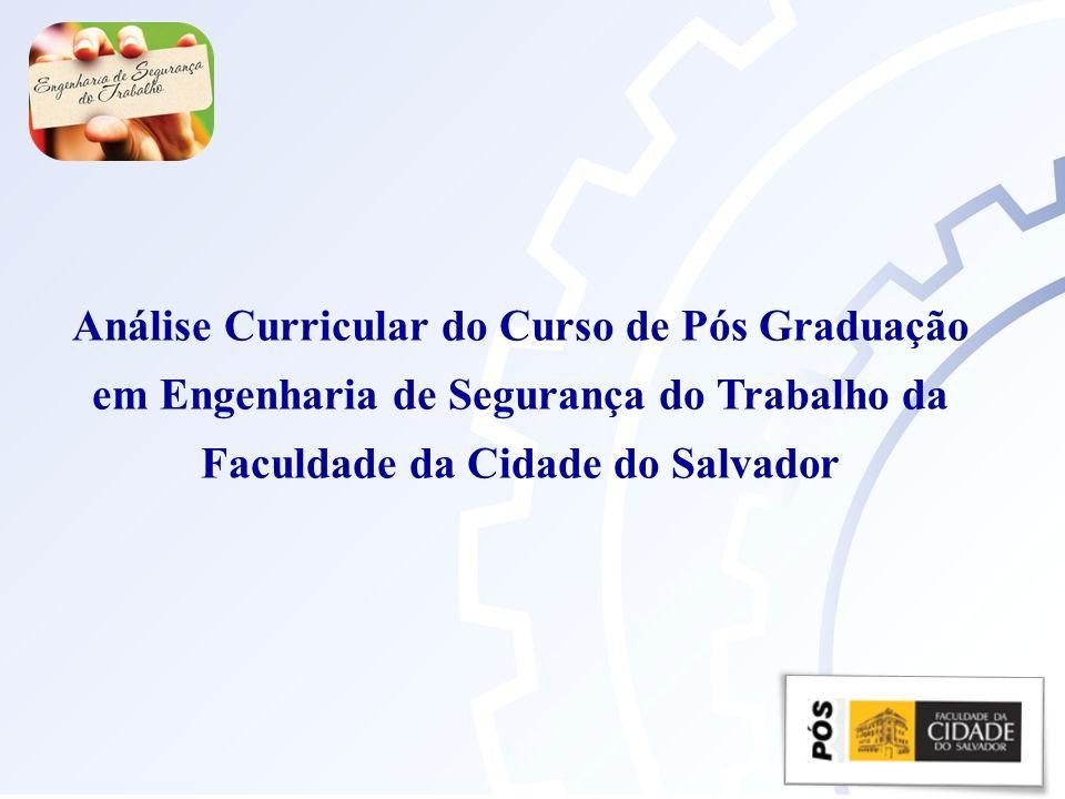 Análise Curricular do Curso de Pós Graduação
