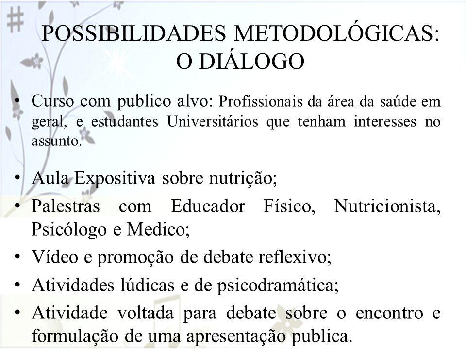 POSSIBILIDADES METODOLÓGICAS: O DIÁLOGO