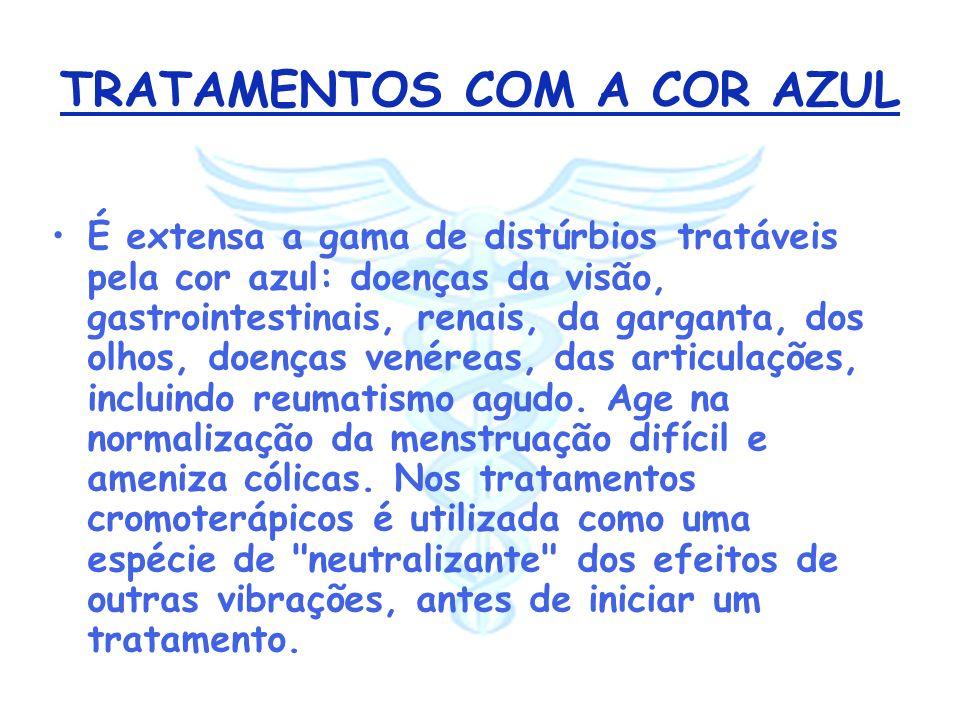 TRATAMENTOS COM A COR AZUL