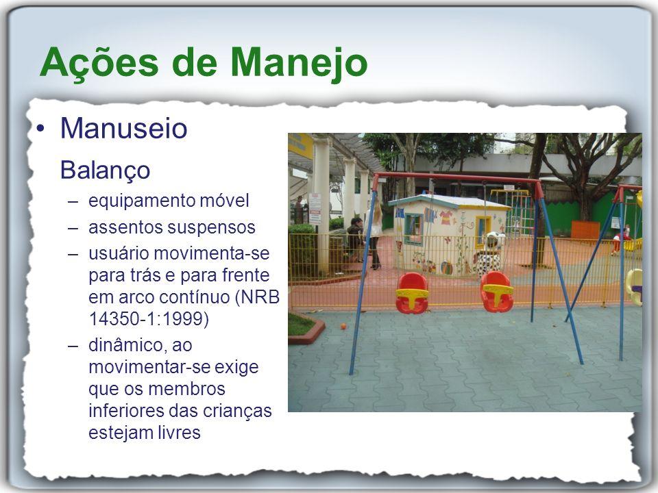 Ações de Manejo Manuseio Balanço equipamento móvel assentos suspensos
