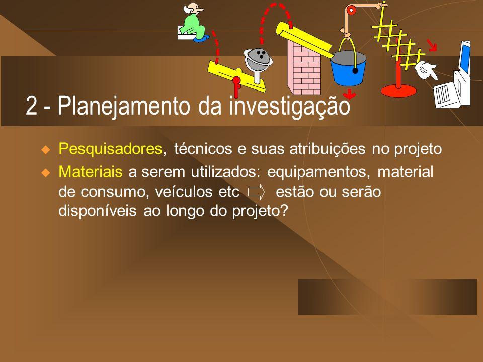 2 - Planejamento da investigação
