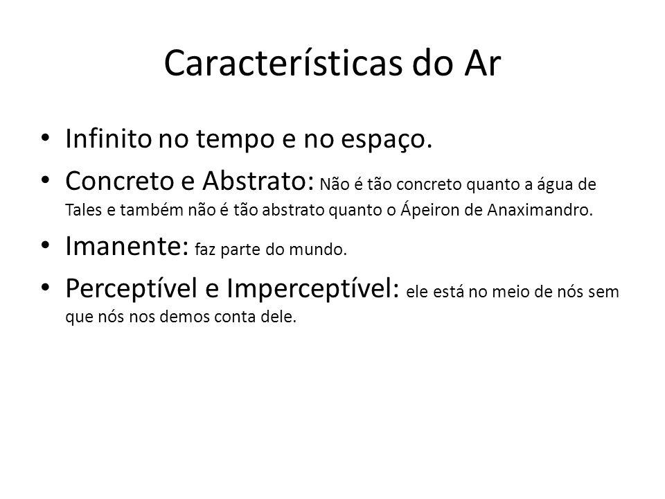 Características do Ar Infinito no tempo e no espaço.