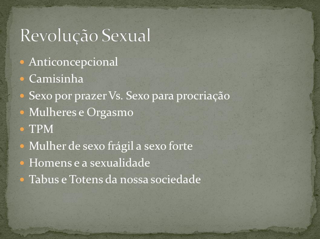 Revolução Sexual Anticoncepcional Camisinha
