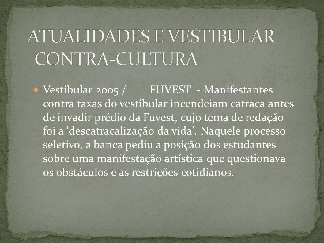 ATUALIDADES E VESTIBULAR CONTRA-CULTURA