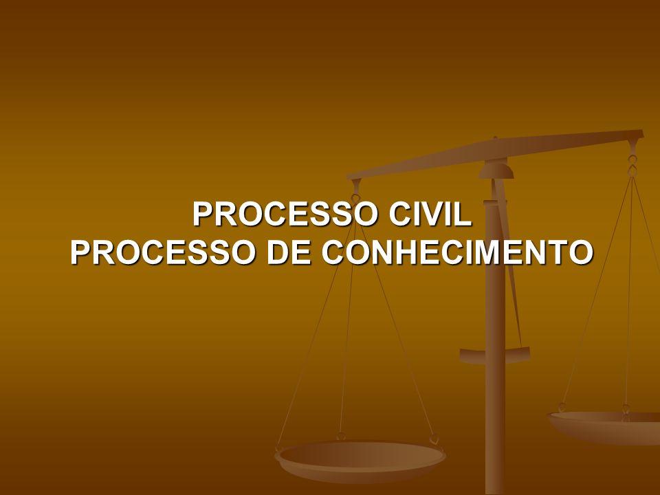 PROCESSO CIVIL PROCESSO DE CONHECIMENTO