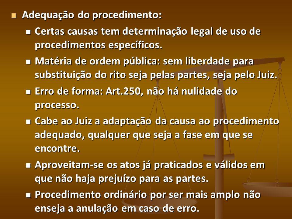 Adequação do procedimento: