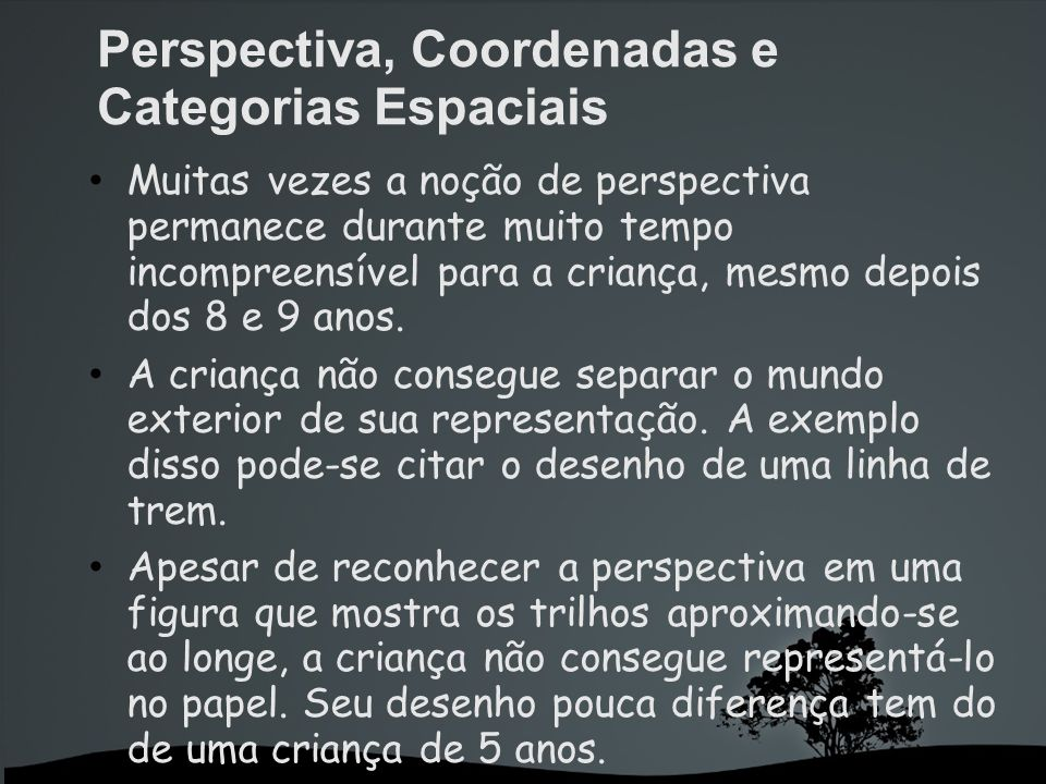 Perspectiva, Coordenadas e Categorias Espaciais