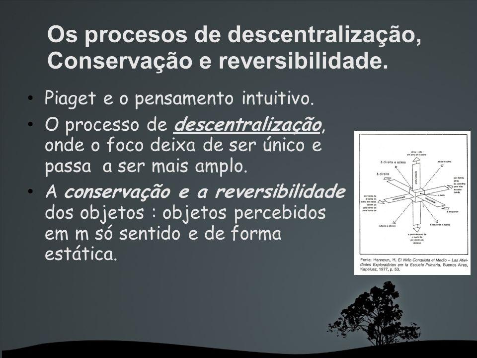 Os procesos de descentralização, Conservação e reversibilidade.