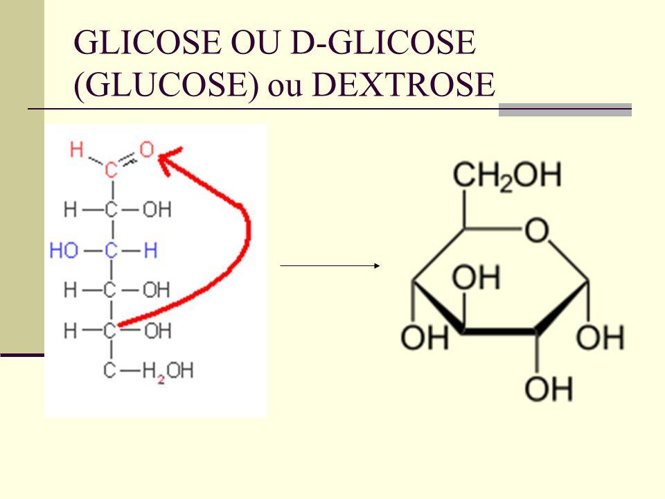 GLICOSE OU D-GLICOSE (GLUCOSE) ou DEXTROSE
