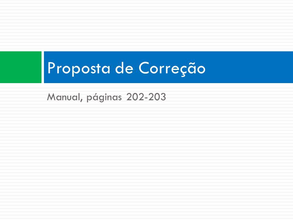 Proposta de Correção Manual, páginas 202-203