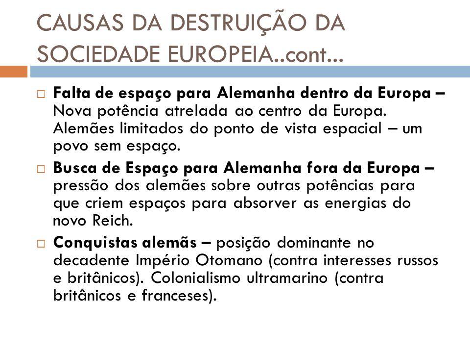 CAUSAS DA DESTRUIÇÃO DA SOCIEDADE EUROPEIA..cont...