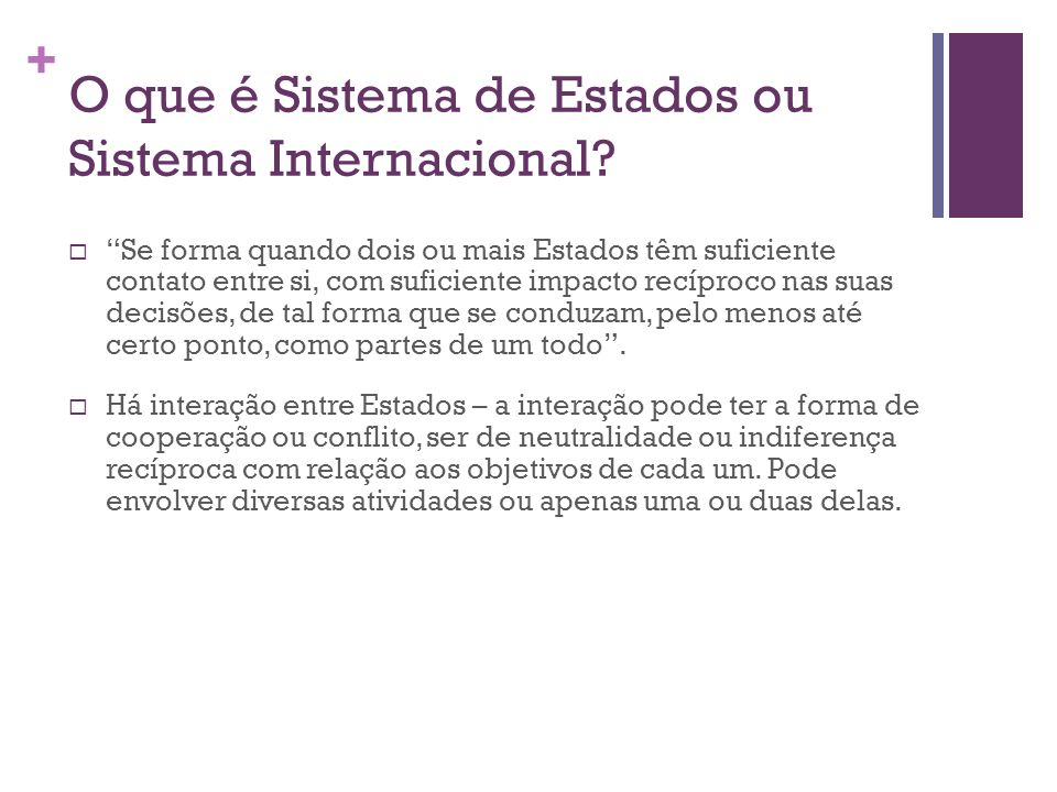 O que é Sistema de Estados ou Sistema Internacional