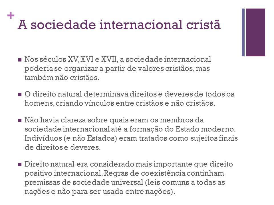 A sociedade internacional cristã