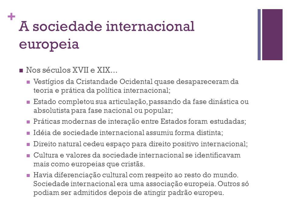 A sociedade internacional europeia