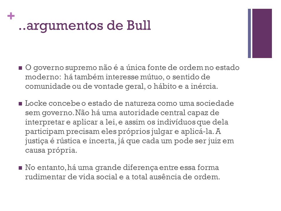 ..argumentos de Bull