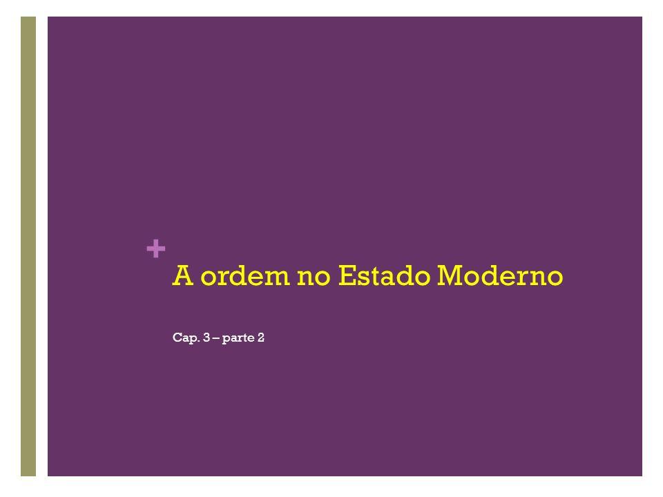 A ordem no Estado Moderno