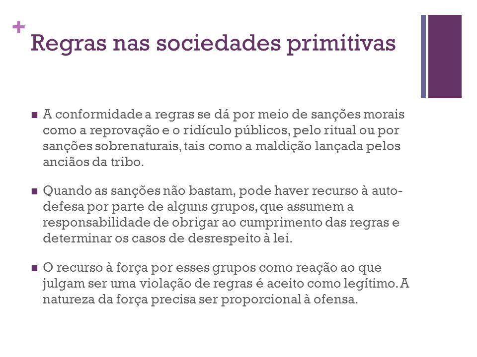 Regras nas sociedades primitivas