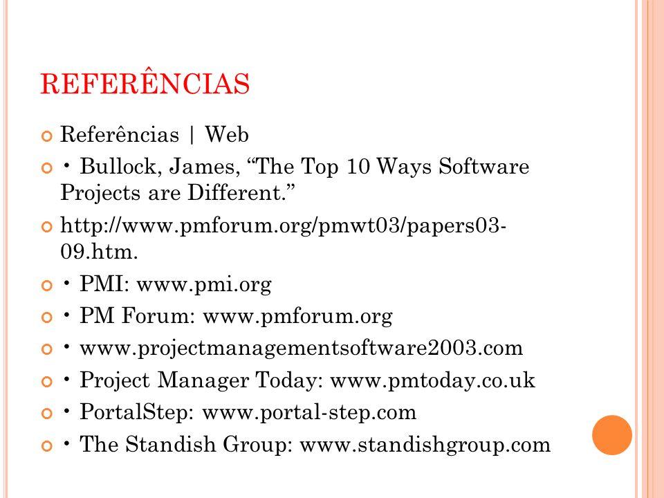 REFERÊNCIAS Referências | Web