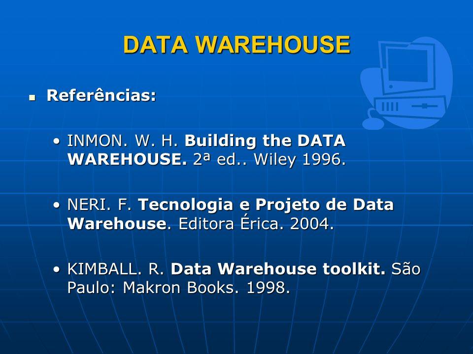 DATA WAREHOUSE Referências: