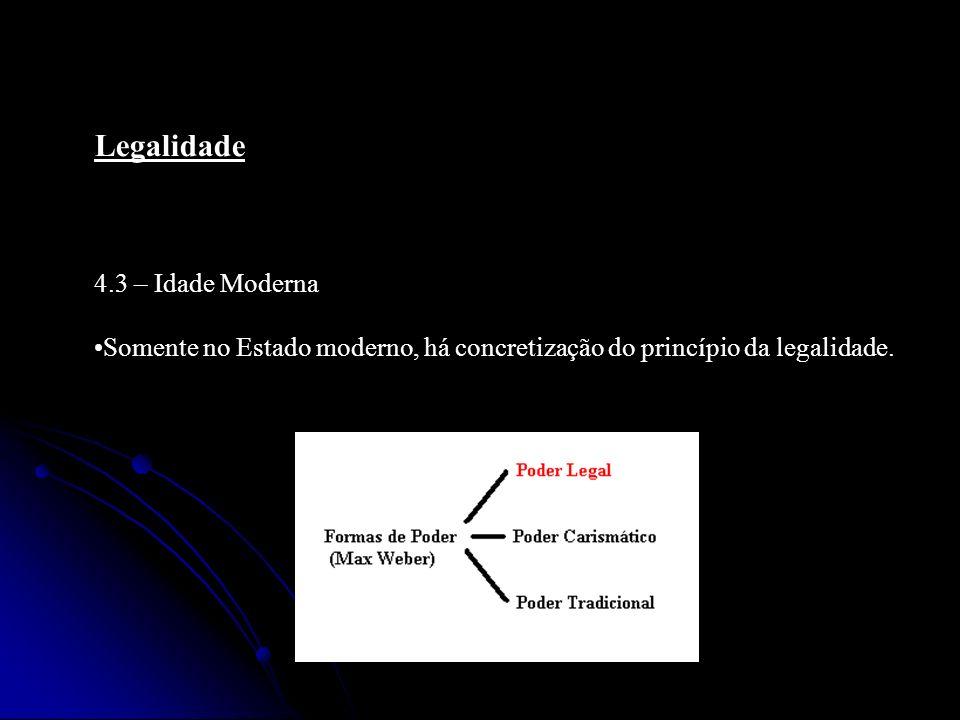 Legalidade 4.3 – Idade Moderna