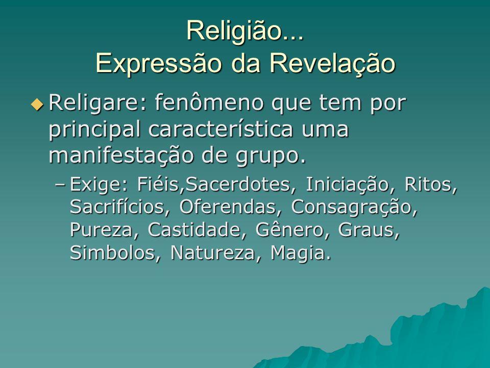 Religião... Expressão da Revelação