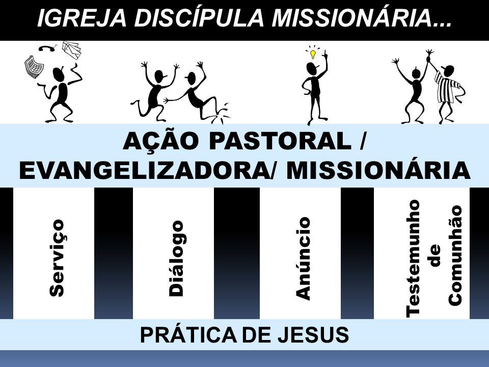AÇÃO PASTORAL / EVANGELIZADORA/ MISSIONÁRIA