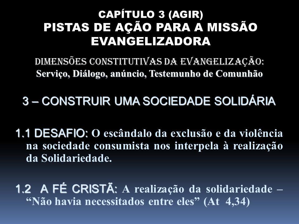 Serviço, Diálogo, anúncio, Testemunho de Comunhão