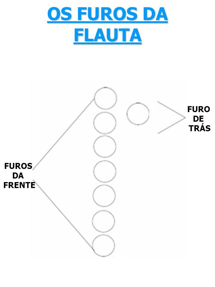 OS FUROS DA FLAUTA FURO DE TRÁS FUROS DA FRENTE