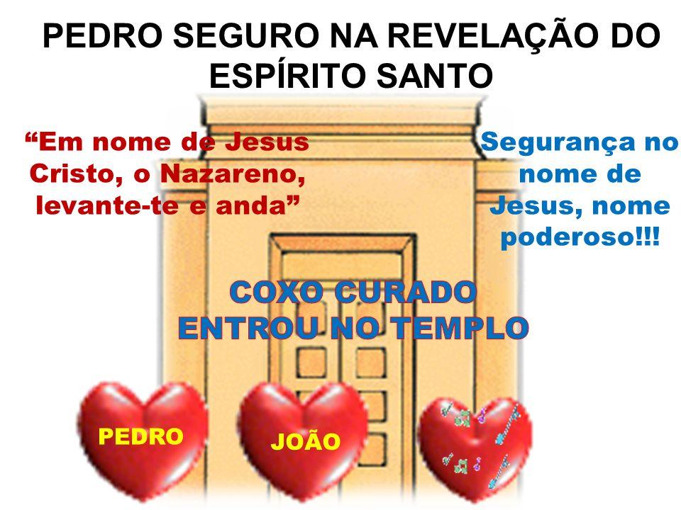 PEDRO SEGURO NA REVELAÇÃO DO ESPÍRITO SANTO