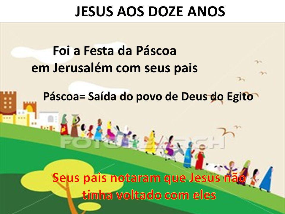 JESUS AOS DOZE ANOS Foi a Festa da Páscoa em Jerusalém com seus pais